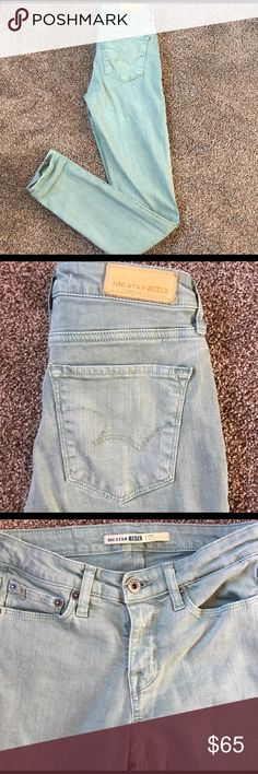 Buckle- Green Big Star Skinny Jeans Size 26 NWOT These are flawless, I Wore them 1 time. They are ADORABLE and perfect for spring and summer!! These jeans could fit a 25 as well as a 26. I attached pictures of how the jeans fit 😘 Big Star Jeans Skinny