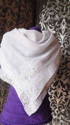 Very Beautiful Antique Wedding shawl. Vintage by UnPetitChateau