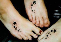 Star tattoos on instep