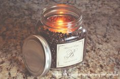 how to make a coffee vanilla candle. I've been looking all over for a good smelling coffee candle, never thought of doing it this way....