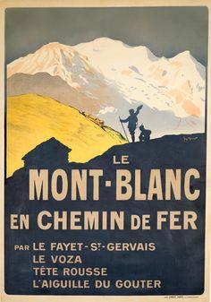 Billedresultat for mont blanc poster St Gervais, Travel Ads, Chamonix, Railway Posters, Retro Illustration, Vintage Travel Posters, A0 Poster, Poster Size Prints, Print Poster