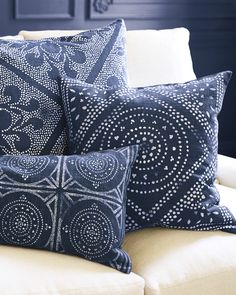 Camille Diamond Medallion Pillow Cover from Serena & Lily