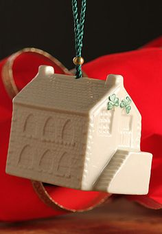 25th Edition  Ring in the holiday season with the charming 2012 Annual Bell Ornament from Belleek.
