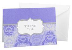 Hortense B. Hewitt Wedding Accessories Dove Grey and Orchid Blue Damask and Crest Thank You Cards, 50 Count Hortense B. Hewitt,http://www.amazon.com/dp/B006ZL1I4A/ref=cm_sw_r_pi_dp_GQtKsb0GDV2B3264