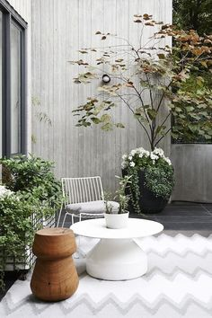 Melbourne House - The Design Files Melbourne Apartment, Zeitgenössisches Apartment, Melbourne House, Melbourne Garden, Outdoor Rooms, Outdoor Gardens, Outdoor Living, Outdoor Decor, Indoor Outdoor