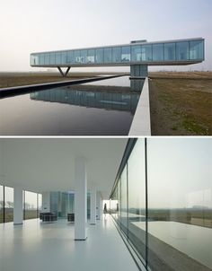 Clear View: Glass Box Hovers Over Subterranean Home, just had to pin this :).  This is definitely an amazing house.
