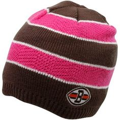 758ea967d Reebok Cleveland Browns Ladies Pink-Brown Breast Cancer Awareness Striped Knit  Beanie Fanatics Cleveland