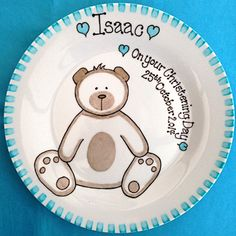 Personalised Christening Gift Plate - Fairy | baptism plates ...
