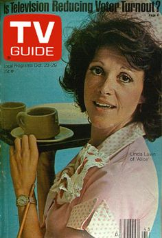 TV Guide Covers 1970s | Alice; TV Guide Cover For October 31, 1977 (Mel's Diner)