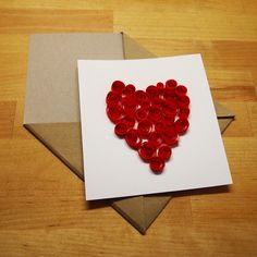 d.i.y. valentine's card - quilling technique