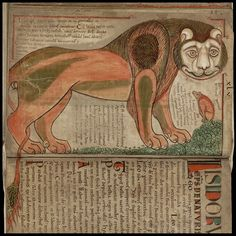Liber Floridus - Lion by peacay, via Flickr