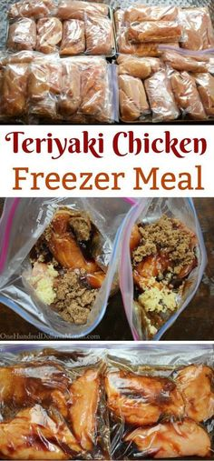 Freezer Meals & Teriyaki Chicken Freezer meals just got even easier. The post Freezer Meals & Teriyaki Chicken & Food! appeared first on Free . Chicken Freezer Meals, Freezer Friendly Meals, Slow Cooker Freezer Meals, Make Ahead Freezer Meals, Freezer Cooking, Frozen Chicken Meals, Crock Pot Dump Meals, Freezer Dinner, Crock Pot Freezer