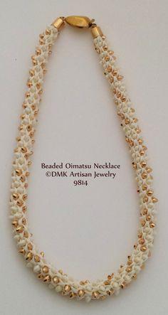 "TUTORIAL ONLY - ""Beaded 16  Element Oimatsu"" Kumihimo Necklace for Kumihimo Disk or Marudai"