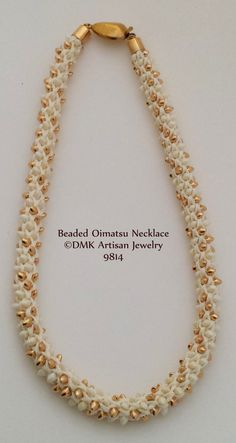 "TUTORIAL ONLY - ""Beaded 16  Element Oimatsu"" Kumihimo Necklace for Kumihimo Disk or Marudai"