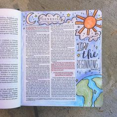 Genesis 1 Steena's Bible Doodles @doodleswithsteena Instagram photos | Websta Art Journaling, Bible Study Journal, Scripture Study, Bible Art, Bible Scriptures, Bible Drawing, Bible Doodling, Genesis Bible, Genesis 1