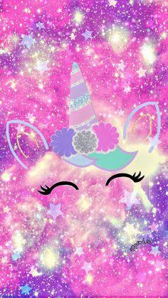 Unicornios Wallpaper, Glitter Wallpaper, Kawaii Wallpaper, Cute Wallpaper Backgrounds, Wallpaper Iphone Cute, Pretty Wallpapers, Cute Cartoon Wallpapers, Galaxy Wallpaper, Trendy Wallpaper
