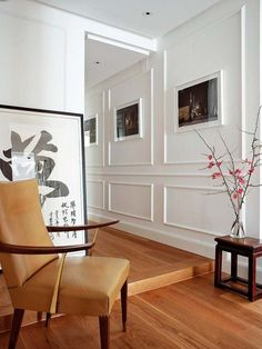 This wall paneling is so nice! Orac Decor, Flur Design, Wall Trim, Hallway Designs, Trim Work, Wall Molding, Apartment Design, Cool Walls, Modern Wall