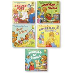 Berenstain Bears Positive Character Book Set - At School Set $23.95