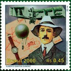 Alberto Santos Dumont, brazilian aviation pioneer