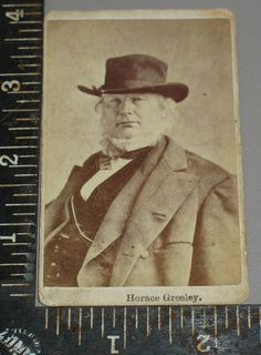 Civil War Era CDV Horace Greeley Editor New York Tribune Politician Chin Beard, Man Cold, Cowboys And Indians, Family Trees, Beauty Photos, Lets Celebrate, First Nations, Fashion Plates, Politicians