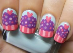 Holy Manicures: Cute Cupcake Nails.