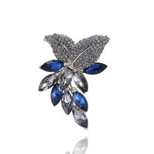 Fashion Rhinestone Brooches 2016 New Design Hot High Quality Crystal Brooch 4Colors Grape Collar Pin Scarf Birthday Gift#bo053(China (Mainland))