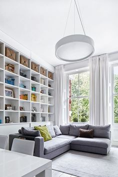 See all our stylish living room design ideas on HOUSE by House & Garden, including this modern and open living space in a compact London flat.