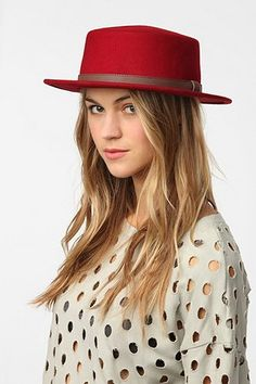 *Brixton Avenue Boater Hat - Red (from Urban Outfitters) $50.00