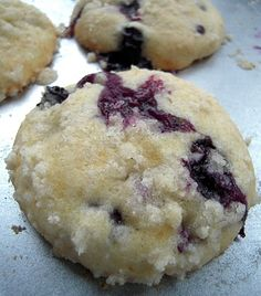 Blueberry Muffin Top Cookies... I made these for a bake sale.  They were a hit!