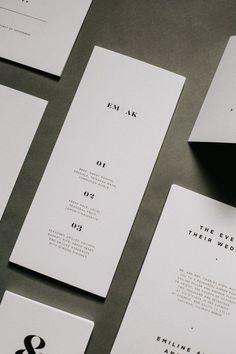 Modern and minimalist wedding invitation