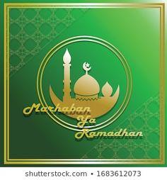 Greeting Card Holy Ramadhan Kareem Ied Stock Vector (Royalty Free) 1058403065 Ied Mubarak, Allah, Royalty Free Stock Photos, Greeting Cards, Christmas Ornaments, Reading, Holiday Decor, Illustration, Green