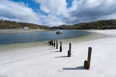 The Silver Sands of Morar, which stretch along the coast line between Morar and Arisaig. I grew up here and stlil think of it as home.  Stunningly beautiful