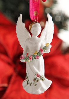 Royal Albert Old Country Roses Angel Ornament - Would love this for my Christmas tree!