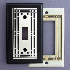 Mission Style Decorative Switch Plates, Outlets, Rockers