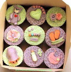 Baby Shower bautizo recién nacido cupcakes