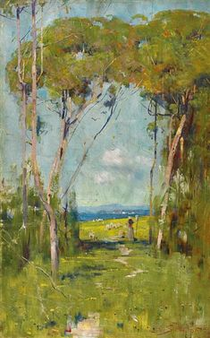 Discover the value of your art. Our database has art auction market prices for Arthur Ernest Streeton, Australia and other Australian and New Zealand artists covering the last 40 years sales. Abstract Tree Painting, Forest Painting, Oil Painting On Canvas, Artist Painting, Impressionist Paintings, Landscape Paintings, Landscape Art, Landscapes, Australian Painting