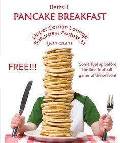 Pancake Breakfast - August 31st, 2013
