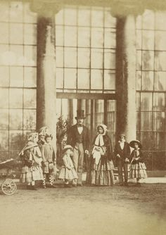 Queen Victoria and Prince Albert with seven of their children, Buckingham Palace, 22 May 1854.