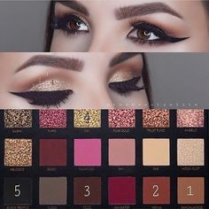 37 top rose gold makeup ideas to look like a goddess Huda Beauty Eyeshadow Palette, Huda Beauty Rose Gold Palette, Huda Beauty Makeup, Rose Gold Makeup, Makeup Palette, Eyeshadow Makeup, Eyeshadows, Pretty Eye Makeup, Smokey Eye Makeup