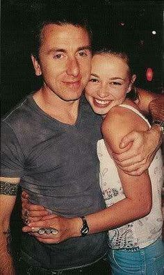 Tim Roth & Lara Belmont an actress from his movie The war zone