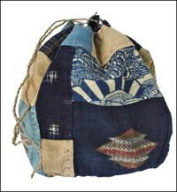 Komebukuro With Kogin Embroidery Cotton Rice Bag