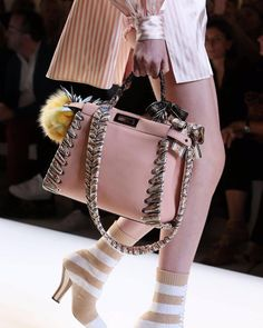 Fendi, Trendy Handbags, Fashion Models, Fashion Trends, Luxury Bags, Women's Accessories, Bucket Bag, Cover, Fashion Photography