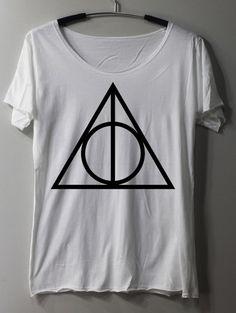 DEATHLY HALLOWS Shirt Harry Potter Shirt TShirt T Shirt Tee Shirts - Size S M L