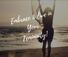 """It took me 30+ years to figure this out! Sad to say but it did. I finally had my """"ah-ha"""" moment unexpectedly. It was as if a light bulb popped on for me. I'm sure some of you are waiting on your moment, it will happen. It's time to embrace & live in your femininity. Embrace the woman that you are. We as women sometimes focus on be super independent and self-sufficient that we sometimes forget that we are a WOMAN first. A gentle, kind, emotional"""