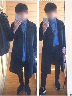 ポイントはRalph Laurenのデニムシャツです! これすごい丈が長いんですよ タッ