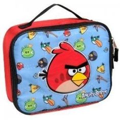 Angry Birds Flock of Birds Insulated Lunch Tote - Red and Black