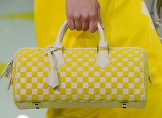 Louis Vuitton cuadrados blanco/amarillo
