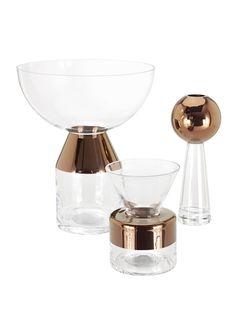 Vase Tank / Haut Transparent / Cuivre - Tom Dixon