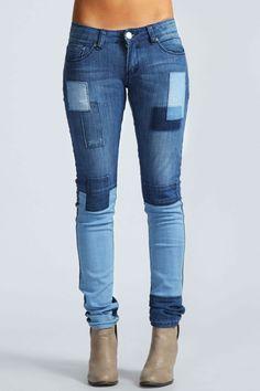 Libbie Patchwork Skinny Jeans