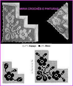 Crochet Doily Diagram, Filet Crochet, Crochet Doilies, Romans, Hand Stitching, Ribbon Flower, Crochet Edgings, Table Linens, Crochet Table Runner